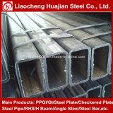 Tubo d'acciaio rettangolare di Galvanzied utilizzato come materiali da costruzione