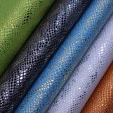 Krokodil-Muster PU-Leder für Beutel, nichtgewebtes Zurückziehenleder