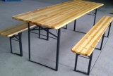 安い祝祭の使用木ビール表およびベンチ