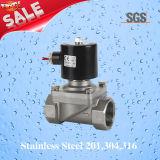 Ss304 válvula eléctrica, válvula electromagnética, electroválvula del acero inoxidable Ss304