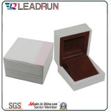 Boîte-cadeau en cuir d'emballage de bouton de manchette de bracelet de présent de souvenir de cadre de mémoire de bijou de velours (YSP134)