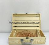 Custom Made Socks Apresentação Caixa de embalagem de madeira sólida com divisores