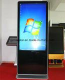 Centre commercial de stand d'étage de 42 pouces annonçant le kiosque d'écran tactile