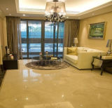 最上質ベージュクリーム色の大理石の屋内床タイル