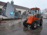 Ce Certificated Articulated 1.5 Ton Loader (HQ915) met Snow Blower