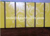 MDF Slotted Board/Slot van de melamine MDF Board/Slot Board met Aluminum.