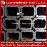 Pipe d'acier rectangulaire Galvanzied utilisée comme matériaux de construction