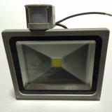 Venta caliente impermeable de 10W LED Proyector con PIR sensor de movimiento