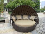 Daybed мебели ротанга патио сада Wicker напольный