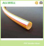 Желтый пластиковый ПВХ волокна экранирующая оплетка усиленная высокого давления воздушного шланга 8.5mm опрыскивания