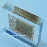 Het duidelijke Acryl AcrylTeken van het Blok van het Embleem van de Vertoning van het Embleem Acryl (btr-I8047)