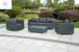 Mesa redonda muebles de ratán y sillas de jardín