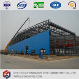 천장 기중기를 가진 전 설계된 가벼운 강철 구조물 작업장