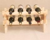 Cremalheira de vinhos de madeira de madeira de cor natural com tamanho personalizado