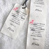 Hangtag atado del papel de la tela 2PC Kraft de la mancha para la ropa