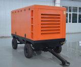 Motor Diesel que conduz o compressor de ar portátil do parafuso giratório