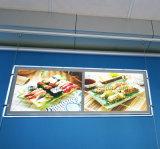 レストランのWindowsの表示水晶LEDの細いライトボックス