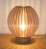 나무로 되는 테이블 램프 (C105)