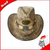 Sombrero de paja del vaquero del verano de Sun de la paja de la trenza de papel