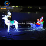 Сани северного оленя СИД кристаллический для украшения рождества (BW-SC-248)