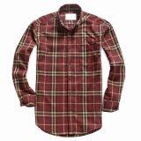 Les hommes du coton Plaid Shirt (RTM0073)