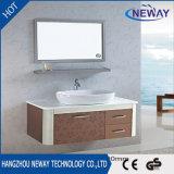 Шкафы раковины ванной комнаты высокого качества стальные с керамическим тазиком