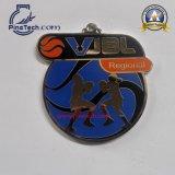 Medalla de oro directa de la fábrica con la muestra libre de las ilustraciones libres