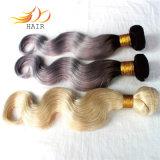 Capelli di trama brasiliani di colore chiaro dei capelli umani di colore di tono di alta qualità due