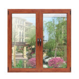 Wooden Colorful Thermal Break Aluminium Profile Double Sashes Janela Casement com Multi Lock K03033