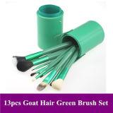 13pcs el pelo de cabra maquillaje verde de la herramienta Pincel (42)