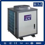 CE, TUV, En14511 certificato R410A 12kw, 19kw, 35kw, 70kw, 105kw pompa termica aria-acqua massima della presa 65deg c per il grande riscaldatore centrale domestico