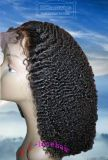 De in het groot VoorPruiken van het Kant van het Menselijke Haar van de Krul Afro Volledige in Voorraad, de Prijs van de Fabriek