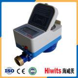 Medidor de água inteligente pagado antecipadamente Modbus remoto de bronze do cartão da leitura CI de Digitas