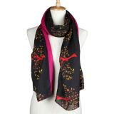 실크에 의하여 인쇄된 스카프 (YKY1023)가 Fashion Viscose Cotton Polyester 숙녀에 의하여 뜨개질을 했다