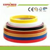 Высокое лоснистое кольцевание края PVC цвета зерна сплошного цвета деревянное