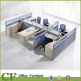 Cloison modulaire de mobilier de bureau en milieu de travail de l'aluminium des cabines de profil de poste de travail