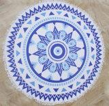 100%年の綿によって印刷されるMicrofiberの円形のビーチタオル