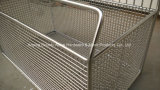 Промышленные части металла очищая корзину