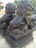 Wie man ein Paar des Granit-/Marmorschnitzenden Skulptur-Steinlöwes für Verkauf schnitzt