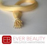 Extensão Nano do cabelo humano de Remy do anel da cutícula