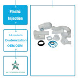 Kundenspezifisches industrielle Teil-Plastikquerrohrfitting zerteilt Plastikspritzen
