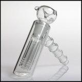 Tubulação de água de fumo de vidro das funções do martelo dois de Hfy 6arms Perc