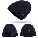 Материал 100% акриловый и шлем Beanies зимы заплаты возрастной группы взрослых изготовленный на заказ