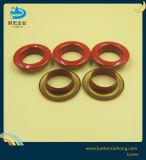 衣服のための赤い丸型真鍮アイレットを塗るカスタムロゴ