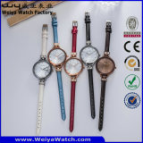 Relojes de las señoras de la manera del cuarzo del reloj de la correa de cuero (Wy-068A)