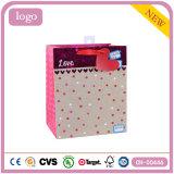 Bolsas de papel románticas del regalo de boda de los cosméticos de Kraft del día de tarjeta del día de San Valentín