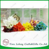 Cheap Wholesale verdadero toque decorativo Flor de Lirio de Agua Artificial