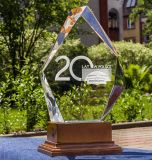 Diamond форму хрустальное стекло ремесла с 3D-лазерная гравировка логотипа для печати сувенир подарки