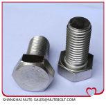 Stainless Hex Stahlkopf  Schraube DIN933 ANSI-volles Gewinde M18X30 zu M18X220