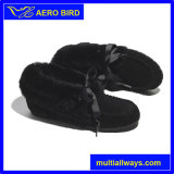 Zapato plano del Bowknot del tobillo lindo del Riband para las muchachas